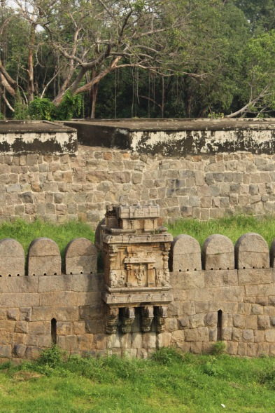 Carvings on the fort walls