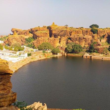 Badami Fort and Lake